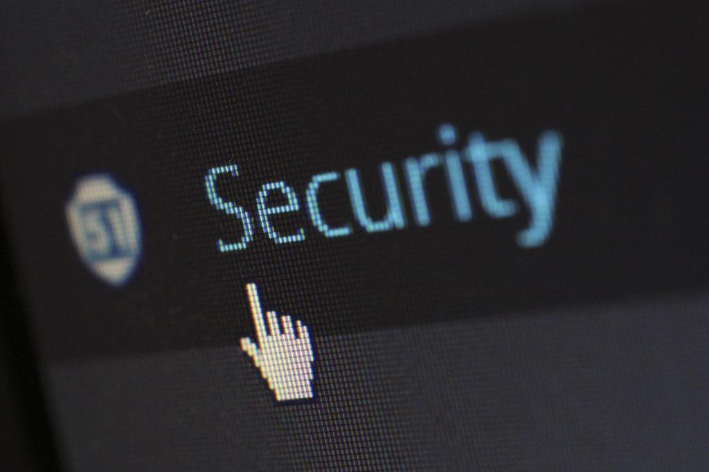 Security logo on screen