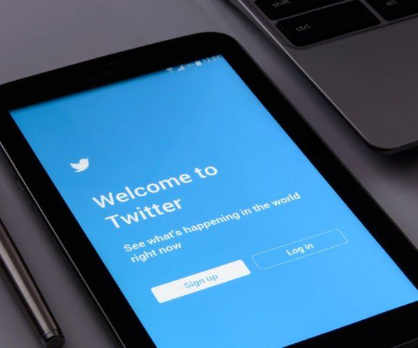 Twitter app in a tablet